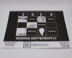 "large print calendar reads ""seeing differently - CABVI"